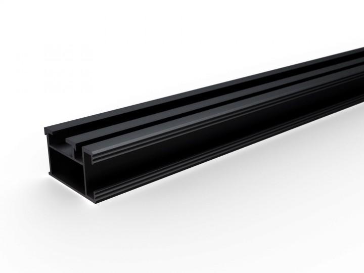 ISSE Montageschiene 3m Schwarz
