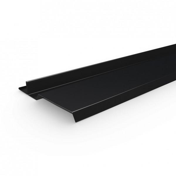 InterSole Anschlussblech SEITLICH Flachziegel (schwarz)