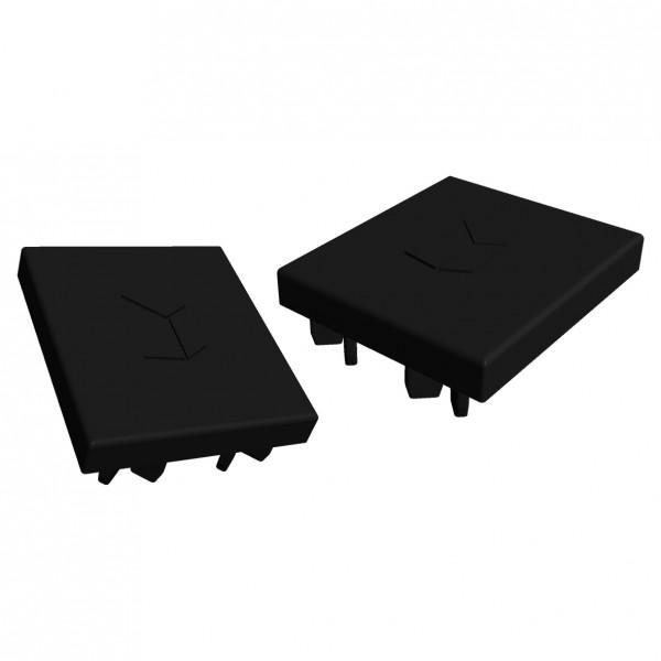 Abdeckkappe VS+ Montageschiene 41x35 (schwarz), 2 stück