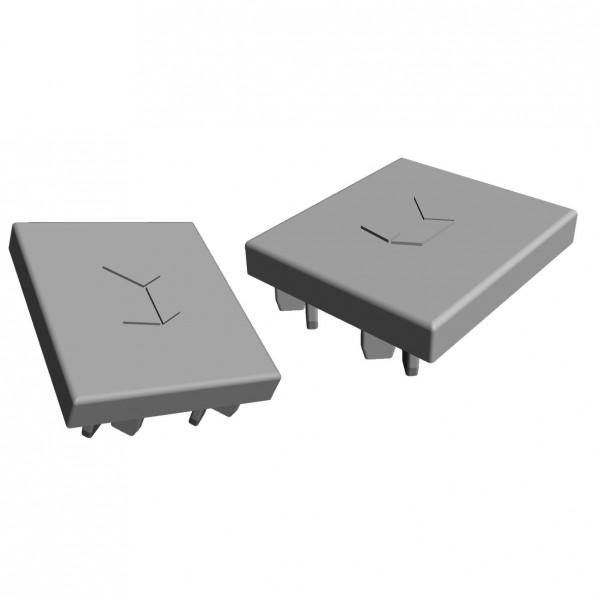 Abdeckkappe VS+ Montageschiene 41x35 (grau), 2 stück